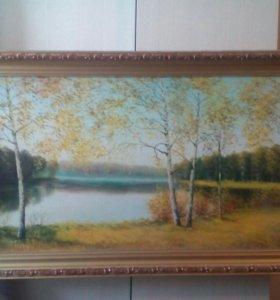 """Картина Крылова В. """"Осень золотая"""" 2004г"""