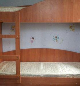 Кровать + Ортопедические матрасы