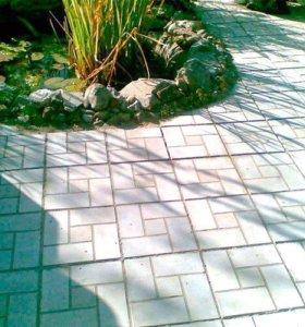Плитка тротуарная, серый цвет