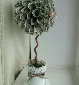 Денежное дерево-топиарий