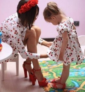 Одинаковая одежда мама+дочь