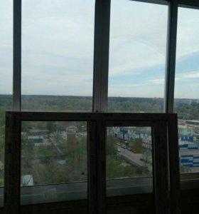 Холодное остекление балкона б/у