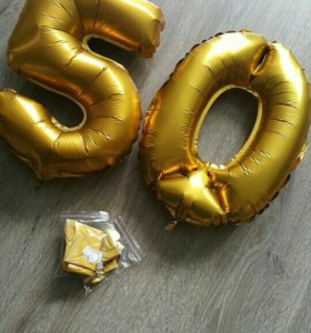 Шарики фольгированные золото - на 1 сентября