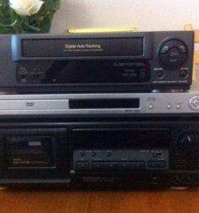 Магнитафон кассетный , видеомагнитафон