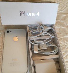 iPhone 4 белый. Невосстановленный