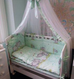 Новые комплекты в кроватку Sdobina Слоники