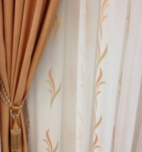 Комплект штор с тюлью