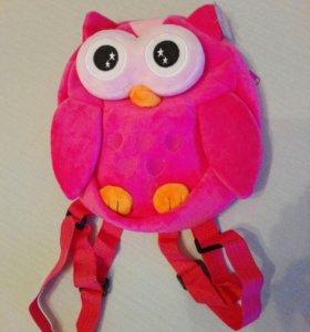 Плюшевый рюкзак детский, для девочек, сова
