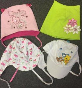 Шапочки панамки летние новые для девочки