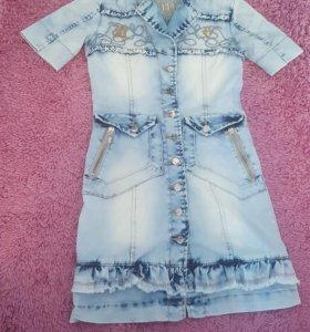 Джинсовое платье (новое)