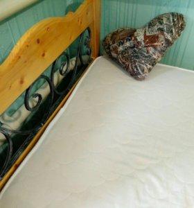 Кровать+матрас 90x200