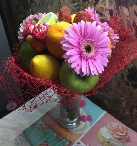 Букеты из фруктов . Мужские подарки