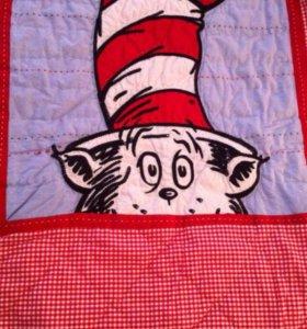 Одеяло, подушки, бортик для детской кроватки