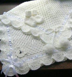 Пледы конверт одеяло на выписку