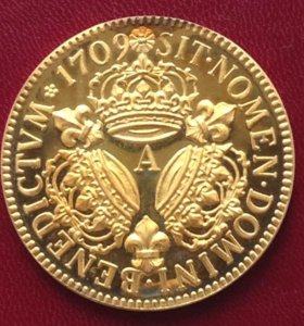 Фландрия (Франция) экю 1709г серебряная копия