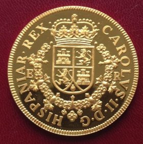 Испания 8 реал 1691г - чистое серебро