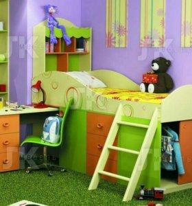 Фруттис кровать комбинированная со столом.