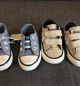 Новые кеды converse и mothercare 18 размер