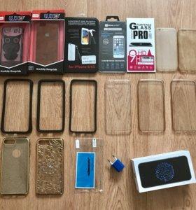 Чехлы бамперы рамки и стекла для IPhone