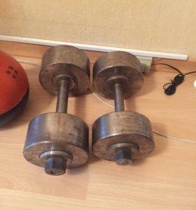 Гантели:16 кг и 20 кг