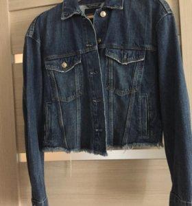 Джинсовая куртка новая Zara