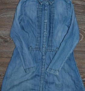 Джинсовые платье рубашка