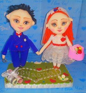 Сувенирные куколки ручной работы.