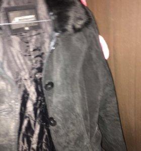 Зимняя замшевая куртка