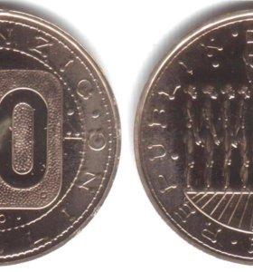 Австрия 20 шиллингов 1980 UNC