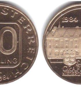 Австрия 20 шиллингов 1984 UNC