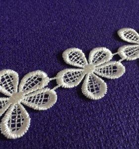 Кружевные цветочки для декора и скрапбукинга