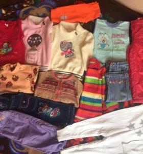 Вещи на девочку 1-3 лет,+подарок.Почти все новые.