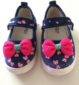 Туфли детские тканевые
