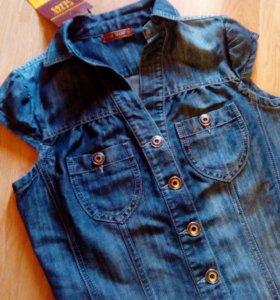 👑Новое джинсовое платье сарафан