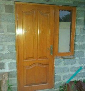 Входная дверь с окном