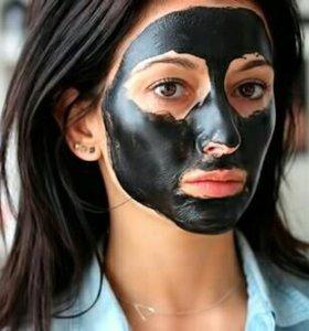 чёрная маска для лица. шесть грамм.осталось четыре