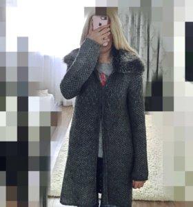 Вязаный Кардиган жакет пальто Zara