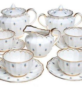 Фарфоровый чайный сервиз 5 персон Вербилки