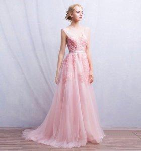 платье на выпускной вечернее новое розовое