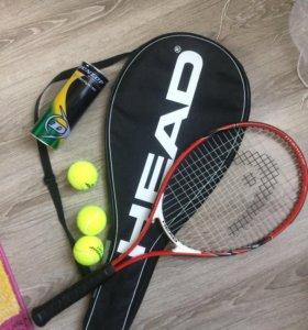Теннисная ракетка чехол и мячики