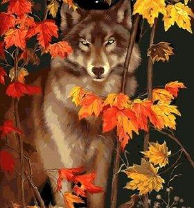 """Картина по номерам """"Гордый волк"""""""