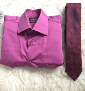 Рубашка и галстук 👔 муж.(М)