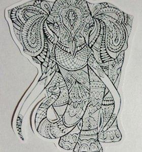 Наклейка слон #2