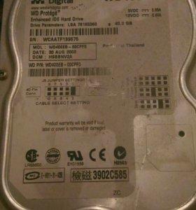 Жесткий диск на 40gb