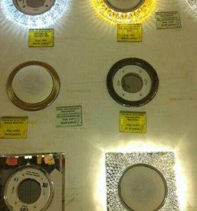 Точечные светильники GX53 для натяжных потолков