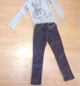 Вельветовые брюки и кофта Benetton