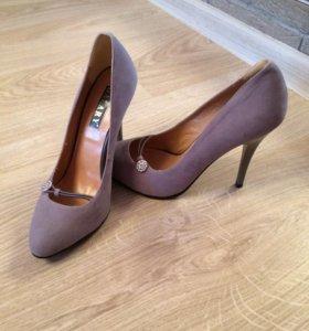 Туфли замшевые новые, р.37
