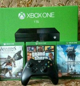 Новый Xbox one 1tb + 20 игр