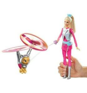 Барби Кукла с летающим котом Попкорном