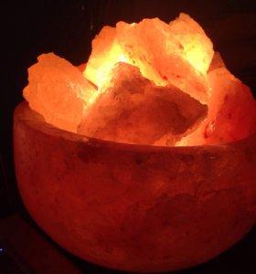 Соляная лампа гималайская соль